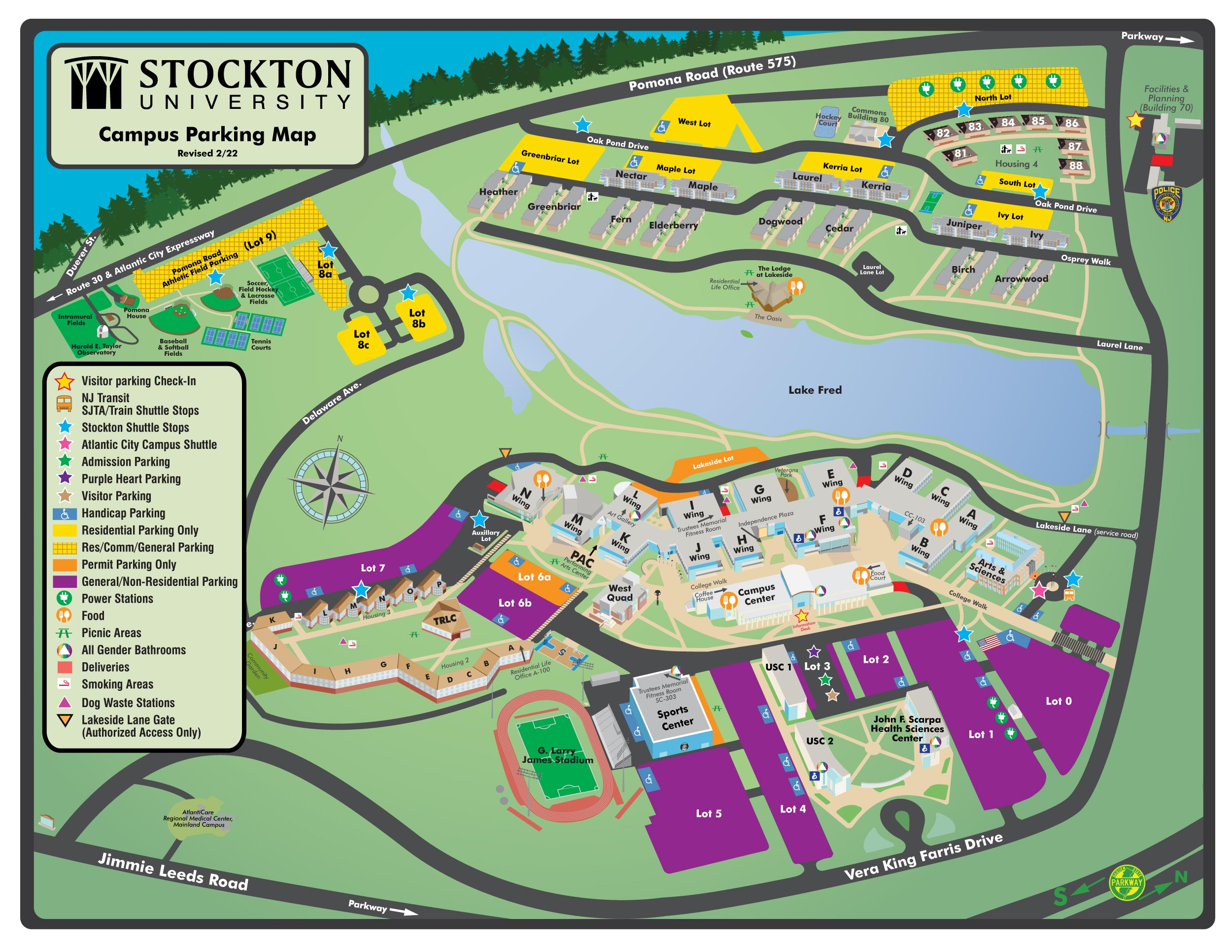 Stockton Campus Map | woestenhoeve