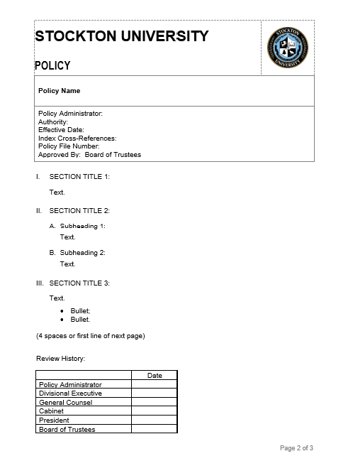 image of policy template