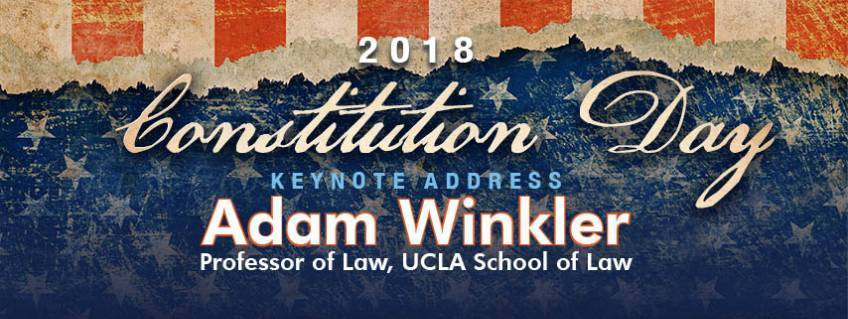 Constitution Day - Keynote Address by Adam Winkler