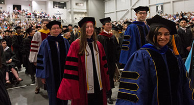 faculty in regalia at commencement