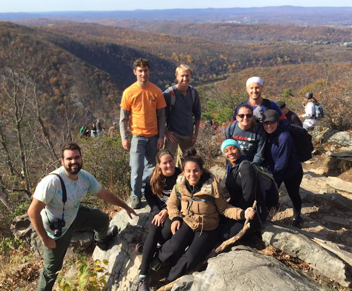 Daniel Moscovici and his students hiked Mount Tammany