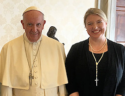 Stockton Professor  Meets With Pope Francis