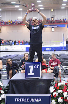 Jared Lewis Wins NCAA Championship  in Indoor Triple Jump