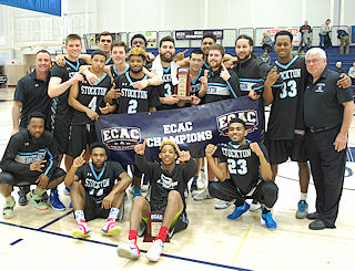 Stockton's men's basketball team wins its first ECAC championship.