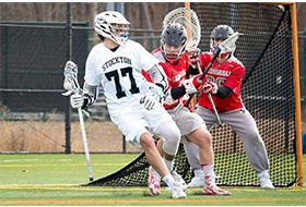Luc Swedlund playing lacrosse