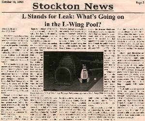 Argo story about the pool leaking